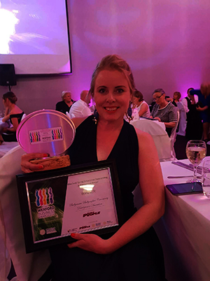 Accepting the Award for Wexford Social Enterprise Outstanding Achievement Award