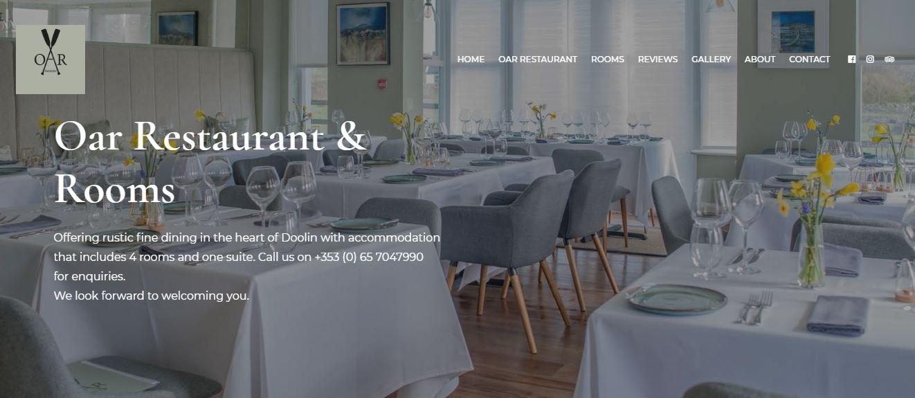 Restaurant Website Design OAR Doolin