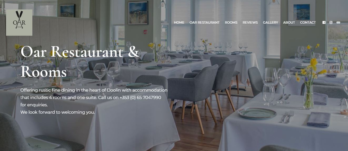 Restaurant Website Design OAR Doolin