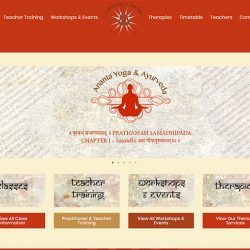 Ananta Yoga and Ayurveda Web Design