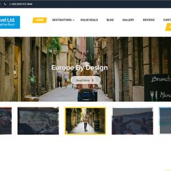 Web Design for Travel Agency Business